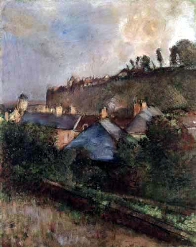 Edgar (Hilaire Germain) Degas (de Gas) - Häuser am Fuße einer Klippe