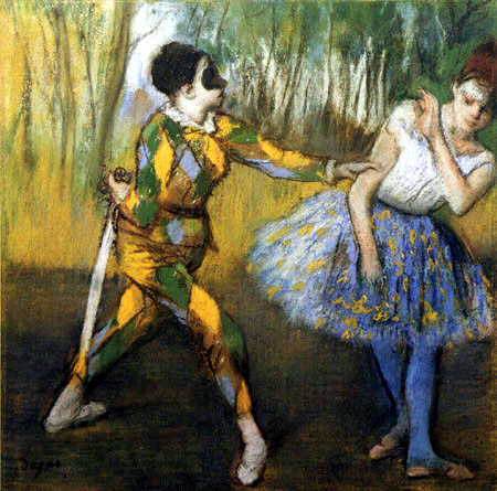 Edgar (Hilaire Germain) Degas (de Gas) - Harlequin and Columbine