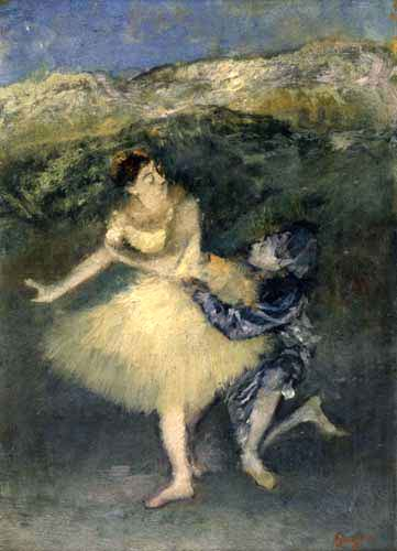 Edgar (Hilaire Germain) Degas (de Gas) - Harlekin und Columbine