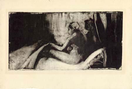 Edgar (Hilaire Germain) Degas (de Gas) - Im Bett sitzende