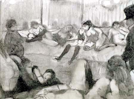 Edgar (Hilaire Germain) Degas (de Gas) - Im Salon