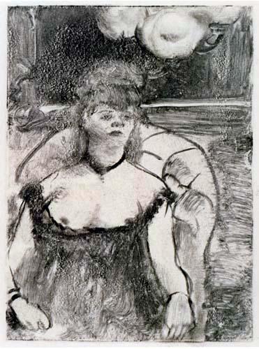 Edgar (Hilaire Germain) Degas (de Gas) - Im Sessel sitzende Prostituierte