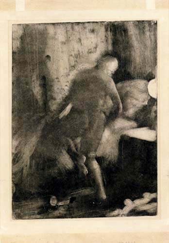 Edgar (Hilaire Germain) Degas (de Gas) - Ins Bett steigende