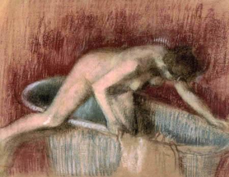 Edgar (Hilaire Germain) Degas (de Gas) - Junge Frau im Bade