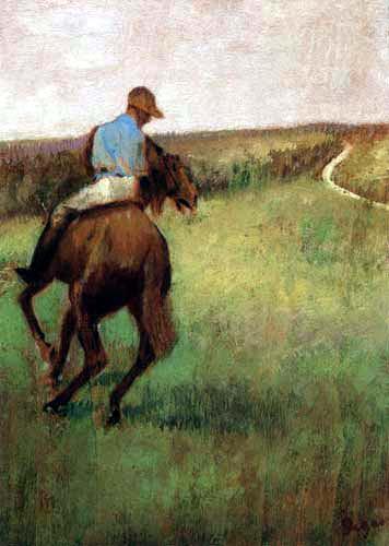 Edgar (Hilaire Germain) Degas (de Gas) - Jockey in Blau
