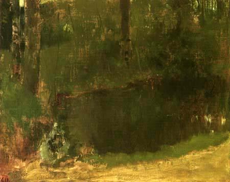 Edgar (Hilaire Germain) Degas (de Gas) - Teich im Wald