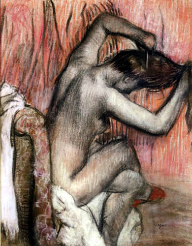 Edgar (Hilaire Germain) Degas (de Gas) - Beim frisieren