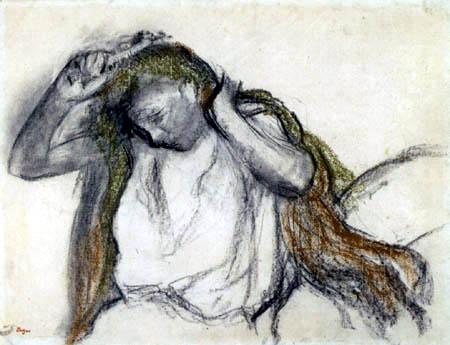 Edgar (Hilaire Germain) Degas (de Gas) - Beim Frisieren nach dem Bade