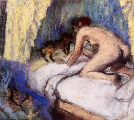 Edgar (Hilaire Germain) Degas (de Gas) - Frau mit Hund