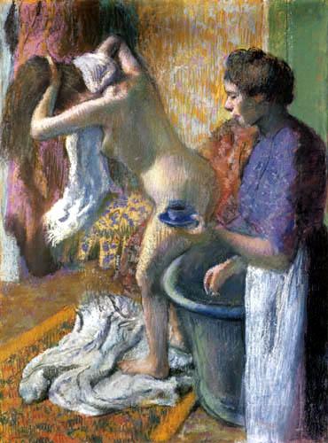 Edgar (Hilaire Germain) Degas (de Gas) - Frühstück nach dem Bade