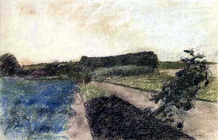 Edgar (Hilaire Germain) Degas (de Gas) - Landschaft an der Orne