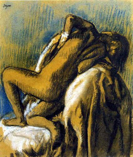 Edgar (Hilaire Germain) Degas (de Gas) - Le repos apres le bain