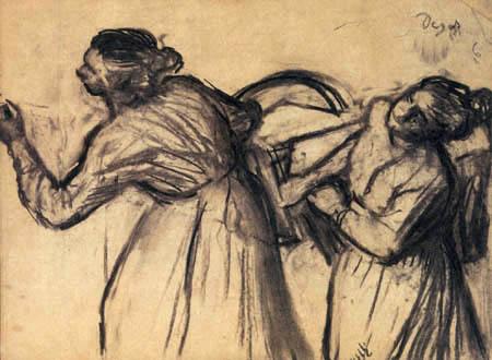Edgar (Hilaire Germain) Degas (de Gas) - Wäscherinnen