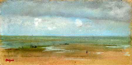 Edgar (Hilaire Germain) Degas (de Gas) - Meerlandschaft mit Sandstrand bei Ebbe