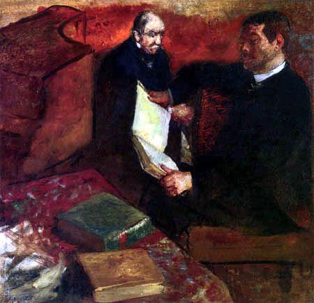 Edgar (Hilaire Germain) Degas (de Gas) - Lorenzo Pagans und der Vater von Degas