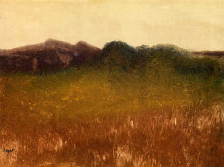 Edgar (Hilaire Germain) Degas (de Gas) - Landschaft mit klarem Himmel