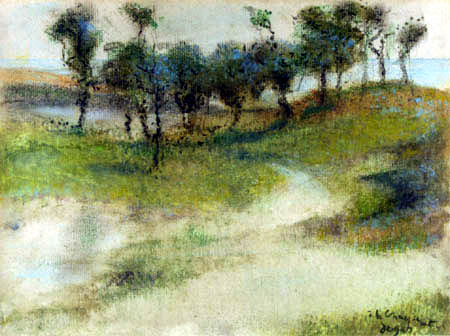 Edgar (Hilaire Germain) Degas (de Gas) - Landschaft am Meer