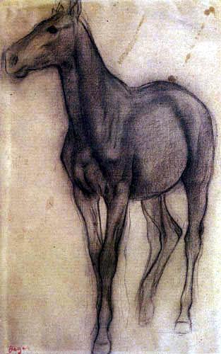 Edgar (Hilaire Germain) Degas (de Gas) - Horse