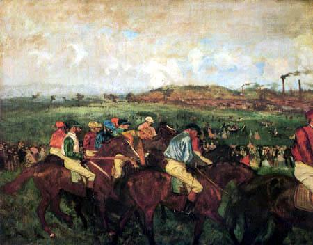 Edgar (Hilaire Germain) Degas (de Gas) - Rennen der Herrenreiter, Vor dem Start