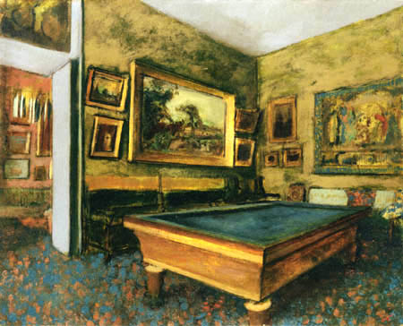 Edgar (Hilaire Germain) Degas (de Gas) - Ein Billiardsaa