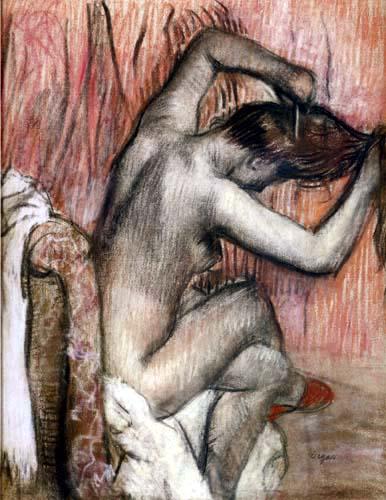 Edgar (Hilaire Germain) Degas (de Gas) - Sich kämmender Akt
