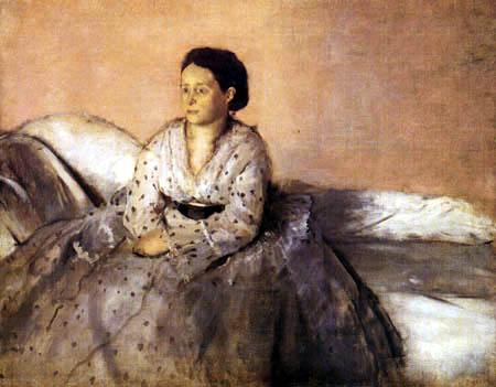 Edgar (Hilaire Germain) Degas (de Gas) - Sitzende Frau im Mousselinkleid