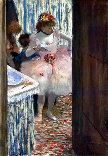 Edgar (Hilaire Germain) Degas (de Gas) - Tänzerin in ihrer Loge