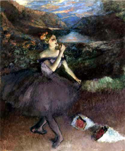 Edgar (Hilaire Germain) Degas (de Gas) - Tänzerin mit Blumensträussen