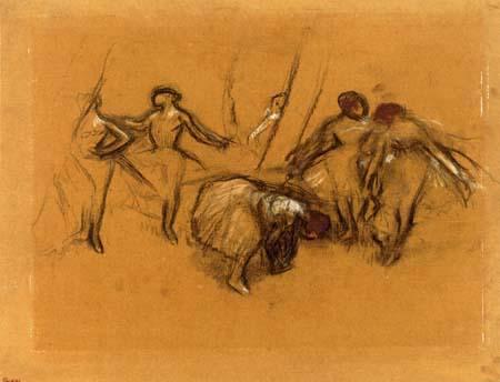 Edgar (Hilaire Germain) Degas (de Gas) - Tänzerinnenszene