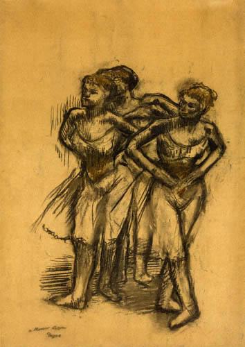 Edgar (Hilaire Germain) Degas (de Gas) - Drei Tänzerinnen