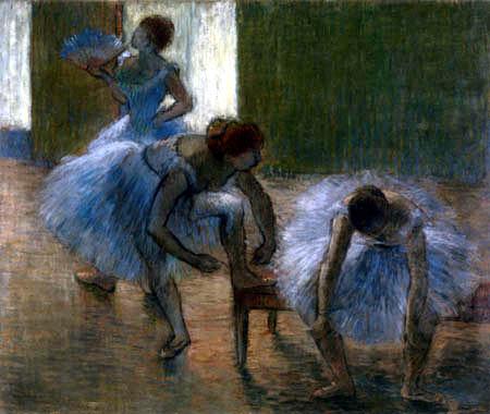 Edgar (Hilaire Germain) Degas (de Gas) - Drei Tänzerinnen der Ballettschule