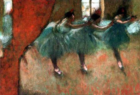 Edgar (Hilaire Germain) Degas (de Gas) - Drei Tänzerinnen im Foyer