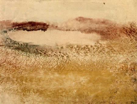 Edgar (Hilaire Germain) Degas (de Gas) - See in den pyrenäen
