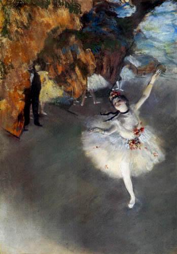Edgar (Hilaire Germain) Degas (de Gas) - Tänzerin auf der Bühne