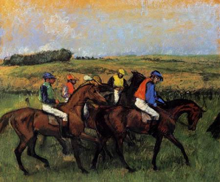 Edgar (Hilaire Germain) Degas (de Gas) - Auf dem Rennplatz