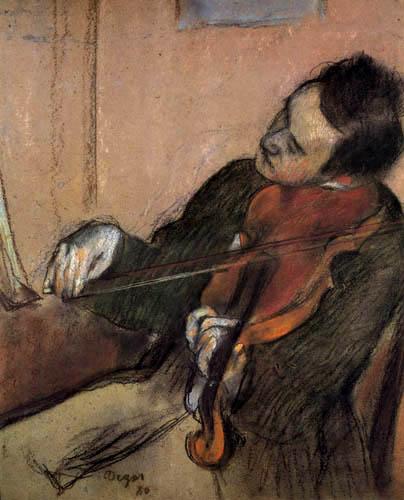 Edgar (Hilaire Germain) Degas (de Gas) - Der Geiger