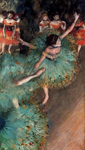 Edgar (Hilaire Germain) Degas (de Gas) - Die grünen Tänzerinnen