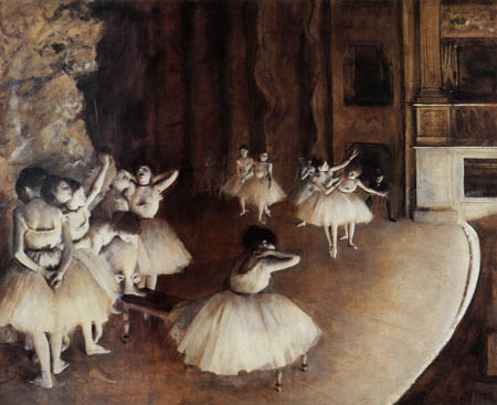 Edgar (Hilaire Germain) Degas (de Gas) - Die Probe auf der Bühne