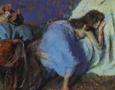 Edgar (Hilaire Germain) Degas (de Gas) - Auf dem Bett ruhend