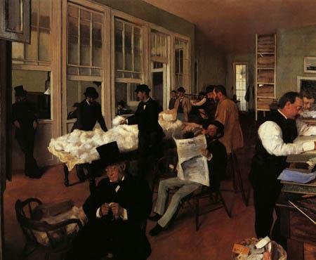 Edgar (Hilaire Germain) Degas (de Gas) - Der Baumwollmarkt