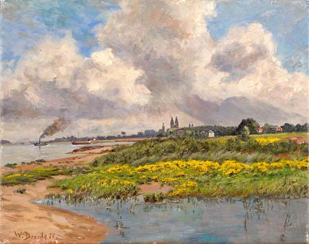 Wilhelm Degode - Summer day in Kaiserswerth
