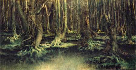 William Degouve de Nuncques - The leprous forest