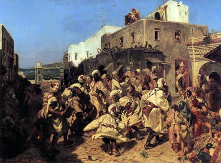 Alfred Dehodencq - Tanzende Neger in Tanger
