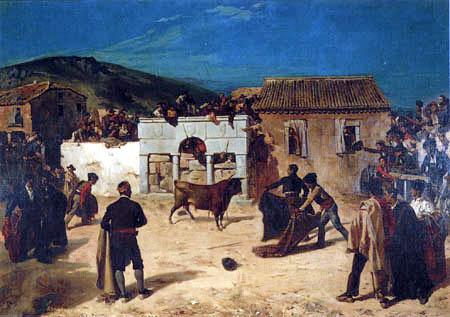 Alfred Dehodencq - Stierkampf in Spanien