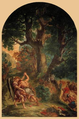 Eugene Delacroix - Jacobo y el ángel