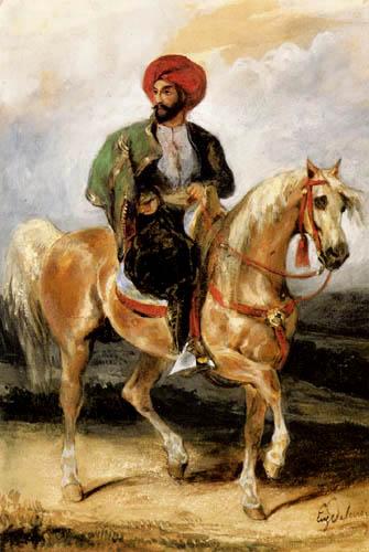 Eugene Delacroix - Un oficial turco al caballo