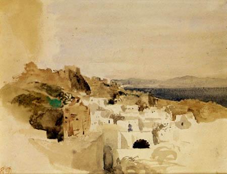 Eugene Delacroix - Blick auf Tanger
