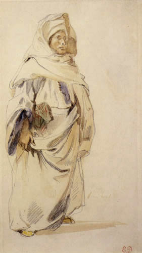 Eugene Delacroix - Ein Araber in Marokko