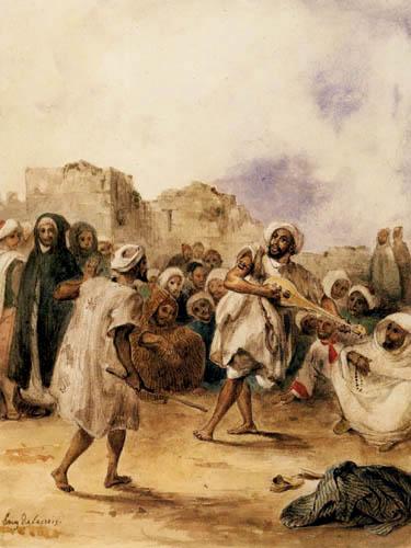 Eugene Delacroix - Fahrende Schauspieler