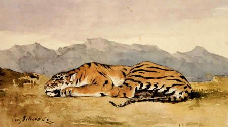 Eugene Delacroix - Tiger
